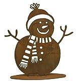 Rostikal   Winterdeko Schneemann Rost Gartendeko Weihnachten   20 cm hoch