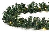 Türgirlande Länge 5 m mit 80 LED künstliche Tannengirlande beleuchtet Weihnachten