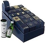 Amazon Premium Spirituosen Adventskalender 2020 - 24 Miniaturflaschen inkl. Booklet mit Verkostungsnotizen und Cocktailrezepten