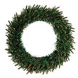 SALAMOPH 30 / 40cm grüner Weihnachtskranz, DIY hängender Kranz kreative grüne Plastikringe Haustür-Aufhänger-Fenster-Anzeigen-Rattan-hängende Weihnachtsdekoration
