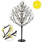 KESSER® Kirschblütenbaum | Lichterbaum Indoor Outdoor Metallfuß Stabil | Weihnachten Beleuchtung Leuchtbaum Warmweiß (180cm)