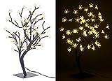 Lunartec LED Bäumchen: LED-Baum mit 64 beleuchteten Blüten, 45 cm, IP44, für innen & außen (LED Deko Baum)